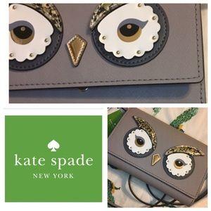 New Kate Spade ♠️ grey owl crossbody purse NWT